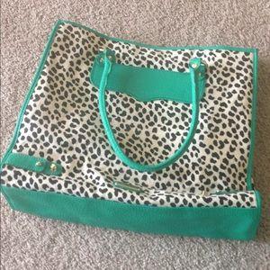 Rebecca minkoff leopard print tote bag